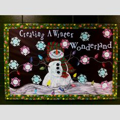 Winter bulletin board.
