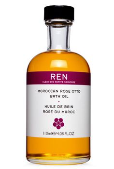Moroccan Rose Otto Bath Oil   A bath oil formulated with Moroccan Rose Otto Oil to nourish the skin and leave it lightly fragranced with roses. Rose Oil's exquisite, sensual scent is also known for its stress relieving and soothing properties.