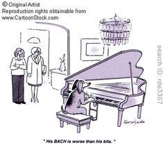 Bach Pun - 'His BACH is worse than his bite.' by Delgado, Roy