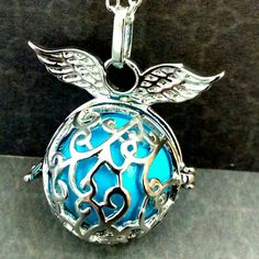 New: Angel caller necklace in turquoise silver with sound ball