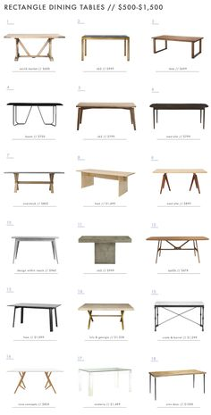A Roundup of 126 Dining Tables for Every Style and Space In case you missed it y. A Roundup of 126 Dining Tables for Every Style and Space In case you missed it yesterday, Ginny introduced you to a Farmhouse Dining Room Table, Dining Table Design, Modern Dining Table, Dinning Table, Table And Chairs, Table For Living Room, Room Chairs, Wood Table Design, Wooden Dining Tables