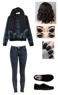 """Untitled #524"" by sweet-strawberry-fairy ❤ liked on Polyvore featuring Chicnova Fashion, Vans, OPI and A.P.C."