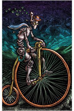 Emek Robot Bicycle Poster 18 x 24