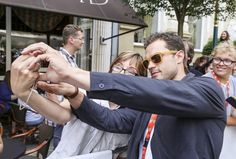 Jamie Dornan and a fan at the Anthropoid premiere at the 51st KVIFF in Prague, Czech Republic  http://www.everythingjamiedornan.com/gallery/thumbnails.php?album=293&page=1