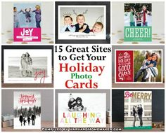 15 Great Sites to Get Your Holiday Photo Cards.  Save time by having this handy list of online card companies at your fingertips!  #cards #Christmas #holiday #photo #harvardhomemaker