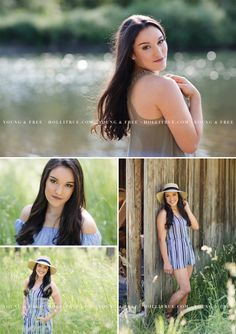 Gorgeous summer senior session in a field and river Holli True | Oregon Senior Photographer