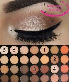 Pin by Areli Cardoso on Make-up and hair and nails Oh MY! in 2019 Makeup Eye Looks, Eye Makeup Steps, Simple Eye Makeup, Smokey Eye Makeup, Skin Makeup, Natural Eye Makeup Step By Step, Simple Makeup Looks, Simple Makeup Tutorial, Natural Eyeshadow Looks