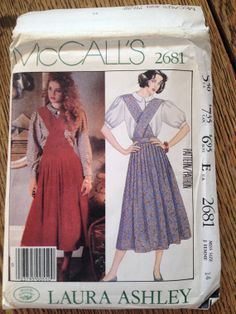 McCall's 2681 Laura Ashley vintage jumper & blouse sewing pattern