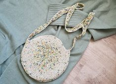 Cute Bags, Beautiful Crochet, Straw Bag, Sewing, Knitting, Diy, Patterns, Tricot, Cute Crochet
