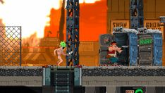 "Trespassers System: PC Status: In Development Release: TBA Developer: CrazyBits Video: Trailer  Website: crazybitsstudios.com / Steam Description: ""Trespassers is a fast-paced run 'n gun, inspired by classic action arcades, featuring skills and upgrades, secret missions and a bit of exploration for 1 or 2 players."""