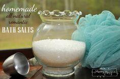 Homemade Bath Salts for Romance – All Natural
