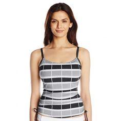 b85d4e3808 Jag Swim Ipanema Stripe Floating Cup Size Underwire Tankini Top Black  Tankini Top, Sportswear,