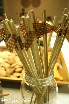 washi tape wrapped skewers