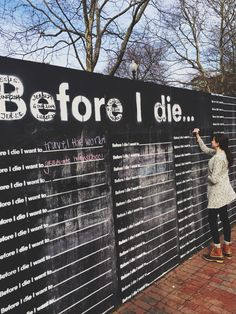 classy and carefree | before i die public art