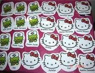 hello kitty name labels