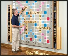 Triple word scores would look even better on this Giant Scrabble board!