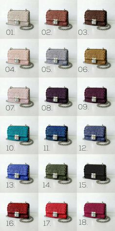 Sevirika crochet cross body bag color palette. Welcome to get your one!