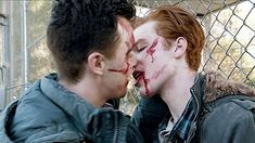 ian and mickey kiss
