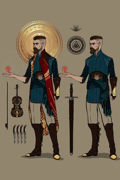Cassian Wildgrove is a Half-Elf Lore Bard 03 Fantasy Character Design, Character Creation, Character Design Inspiration, Character Concept, Character Art, Concept Art, Dungeons And Dragons Characters, Dnd Characters, Fantasy Characters