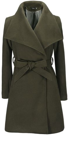 Turn-down Collar Mid-length New Wool Coat With Belt