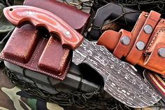 Custom Handmade Damascus Bug Out Bag by ComeandTakeThem on Etsy