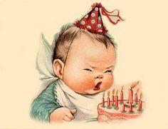 Adorable vintage birthday image