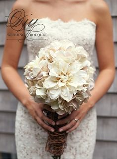 diy mum and hydrangea boquet - Click image to find more Weddings Pinterest pins