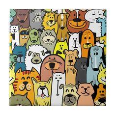 Stock Photo Cartoon doodle dogs and cats seamless Stock Photo – 30739973 Cartoon Dog, Cartoon Drawings, Doodle Cartoon, Dog Bathroom, Cat Diseases, Doodle Dog, Cat Shedding, Dog Poster, Curious Creatures