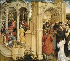 Los Desposorios de la Virgen, por Robert Campin - Los desposorios de la Virgen -