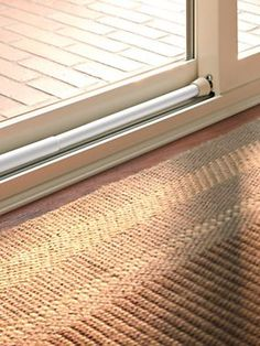 Instantly add security to a sliding door with a security bar | Solutions.com #Security #SlidingDoor #Home