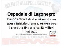 CRONACHE Danno erariale da due milioni di euro  Indagine sulla progettazione dell'ospedale di Lagonegro L'indagine è della Guardia di Finanza che ha segnalato alla Procura regionale della Basilicata della Corte dei Conti 18 persone, tra cui anche alcuni amministratori regionali