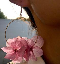 Bride Earrings, Diy Earrings, Flower Earrings, Real Flowers, Dried Flowers, Papillon Violet, Bohemia Wedding, Flower Model, Necklaces