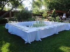 Small outdoor wedding idea