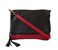 Black & Red Sling Bag Wild Orchid, Handbags, Boutique, Red, Black, Purses, Black People, Hand Bags, All Black