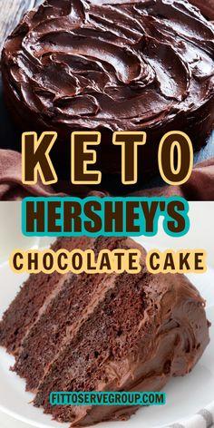 Hershey Chocolate Cakes, Sugar Free Chocolate Cake, Diabetic Chocolate Cake, Keto Chocolate Recipe, Low Carb Deserts, Low Carb Sweets, Low Carb Cakes, Keto Cupcakes, Keto Mug Cake