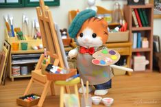 toy photography Sylvanian F - toys Calico Critters Families, Critters 3, Sylvanian Families House, Louis Y Harry, Kawaii Cute, Kawaii Plush, Studio Calico, Toy Craft, Cute Toys