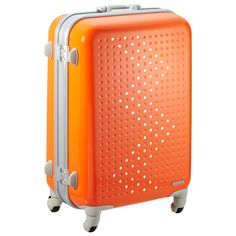 """Love the color! The Container Store > Orange 24"""" Jelly Bean Rolling Luggage"""