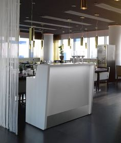 moree counter straight reception desk white led illuminated bar dj booth cocktail bar catering hotel