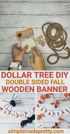 Dollar Tree Fall, Dollar Tree Decor, Dollar Tree Crafts, Dollar Tree Christmas, Dollar Tree Pumpkins, Merry Christmas, Halloween Banner, Diy Halloween Decorations, Fall Halloween