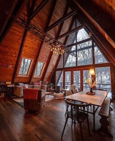 Bar Design, Design Studio, House Design, Diy Cabin, Rustic Cabin Decor, A Frame Cabin, A Frame House, Spacious Living Room, Rugs In Living Room