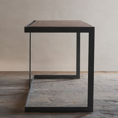 Items similar to Suspended Wood and Metal End Table Modern Industrial Design on Etsy Iron Furniture, Steel Furniture, Design Furniture, Modern Furniture, Wood And Metal Desk, Metal Desks, Wood Steel, Wood Desk, Vintage Industrial Furniture