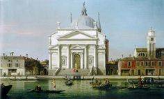 Canaletto, The Church of the Redentore, Venice, with sandalos and gondolas - New York - Art - Collectibles - Pictures of Oil paintings