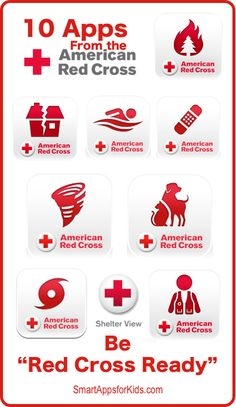 "Be ""Red Cross Ready"" with these TEN apps from the American Red Cross http://www.smartappsforkids.com/2014/05/be-red-cross.html"