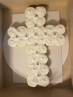 Cross cupcake cake  communion,  confirmation,  baptism