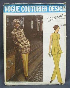 Vogue Couturier Design Jo Mattli Womens Fashion Clothing Sewing Pattern 2427