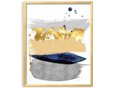 Navy Blue and Grey Modern Art: this listing is PRINTABLE FILE of an abstract composition in navy blue, gray, mustard yellow and gold brushstroke painting. Perfect for the modern boys nursery or contemporary living room   • One 8 x 10, 300 DPI JPG file • One 5x7 file, 300 dpi AND •One 8 x 8 Square file. • You can print the 8x10 file as an 8x10, 11x14, 16x20 • You can print the 5 x 7 file as a 5x7, 10x14 or 15 x 21 file • You can print the square file (SQ) as 8x8, 10x10, 12x12 or up to 16x16…