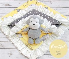 Dream Big Cuddle Baby Blanket Sewing Tutorial so cute with the Satin ruffle