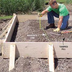 Form and Pour a Concrete Slab