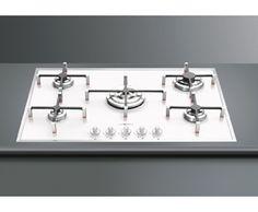 Smeg PVB750 Gas Hob Built In White £650 appliances online. Dimensions (cm): (H)5.8 x (W)74.0 x (D)51.0