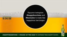 Carlsberg's #happybeertime activation enabled consumers to extend happy hour by posting content to social networks whilst at bars